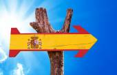 Spain Flag wooden sign — Stock Photo