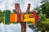 Sri Lanka Flag wooden sign — Stock Photo