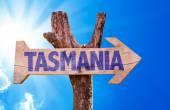 Tasmania wooden sign — Stock Photo