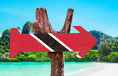 Trinidad and Tobago Flag  sign — Stock Photo
