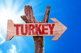 Turkey wooden sign — Stock Photo