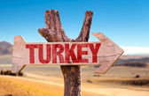Turkey wooden sign — Stock Photo