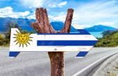Znak vlajka uruguaye — Stock fotografie