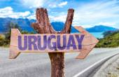 Uruguay wooden sign — Stock Photo