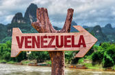 Venezuela wooden sign — Stock Photo