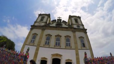 The famous church in Salvador — Stock Video