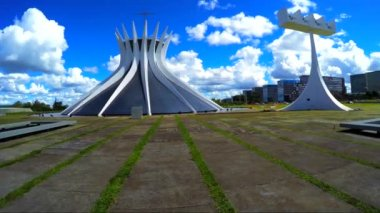 Famous Cathedral of Brasilia — Stock Video