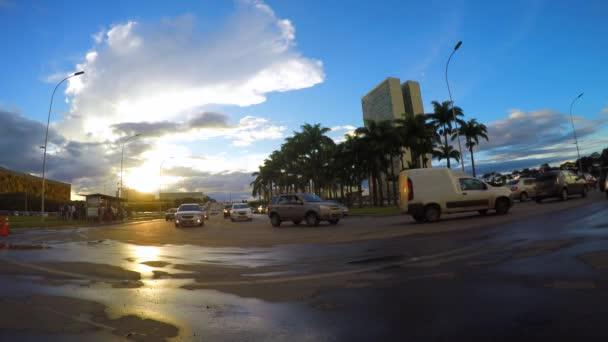 El Congreso Nacional de Brasil — Vídeo de stock