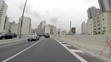 Driving on the Famous Minhocao — Stok video
