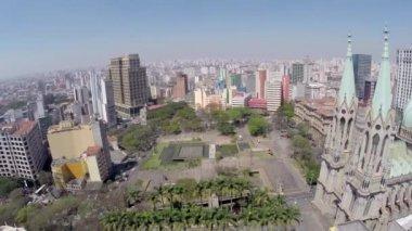 Vista de la Catedral de Sao Paulo — Vídeo de Stock