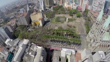View of Se Cathedral in Sao Paulo — Stock Video