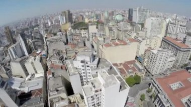 View from Sao Paulo Downtown — Stock Video