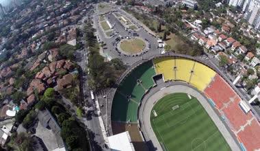Estadio do Pacaembu in Sao Paulo — Stock Video