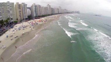 Famous Beach in Brazilian Coastline — Stock Video