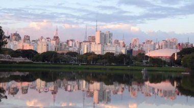 Beautiful Landscape of Sao Paulo — Stock Video