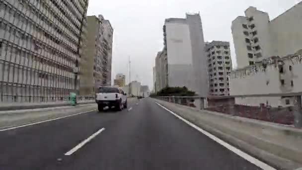 Driving on the Famous Minhocao — Vídeo de stock