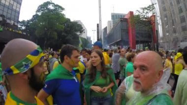 People protest against brazilian government — 图库视频影像
