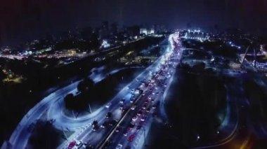 Słynnej Avenue w godzinach szczytu — Wideo stockowe