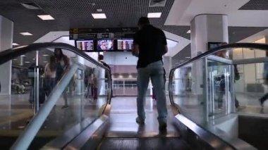 Lounge on Santos Dumont Airport — Stock Video