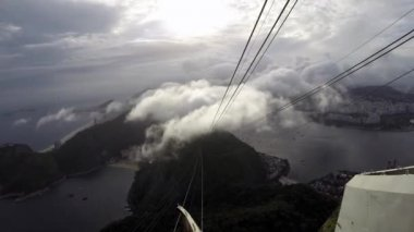 Sugar Loaf Mountain and Cable Cars — Stock Video