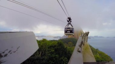 Sugar Loaf Mountain and Cable Car — Stock Video