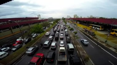Traffic on the Famous Radial Leste Avenue — Stock Video