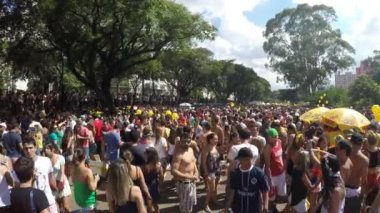 People Celebrating Carnaval Party — Stock Video