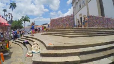 The famous Church of Nosso Senhor — Stock Video