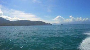 Boat Travel around Islands — Stock Video
