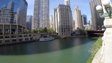 Beautiful view of the Chicago — Stock Video