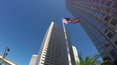 美国那飘扬的旗帜 — 图库视频影像