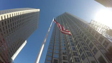 American waving flag — Stock Video