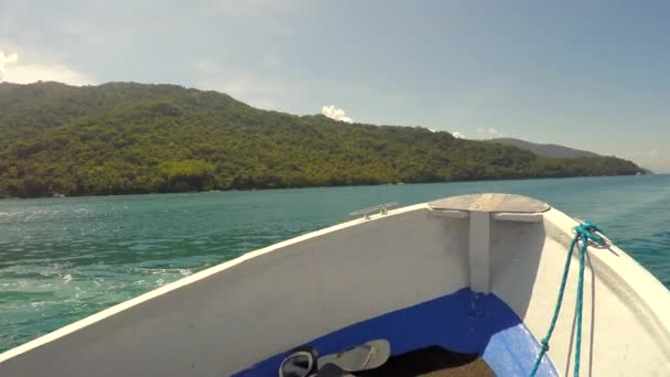 Boat Travel around Islands — Vídeo de stock
