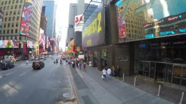 Panoramic view of the Times Square — ストックビデオ