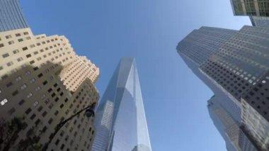 Lower Manhattan with World Trade Center — Stock Video