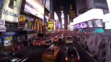 Driving in Times Square — Stock Video