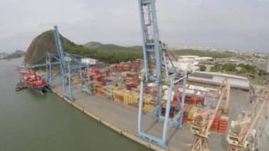 Port of Vitoria in Espirito Santo — Stock Video