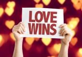 Love Wins card — Stock Photo