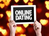 Tablet pc z tekstem randki Online — Zdjęcie stockowe