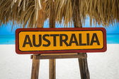 Australia sign with beach — Stock Photo