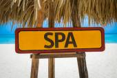 SPA sign with beach — Stock Photo