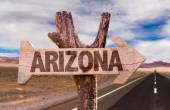 Arizona wooden sign — Stock Photo