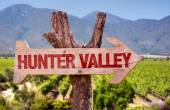 Hunter Valley wooden sign — Stock Photo