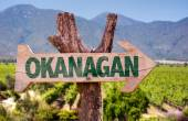 Okanagan wooden sign — Stock Photo