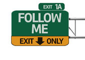 Follow Me road sign — Stock Photo