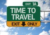 Time To Travel road sign — Stock Photo