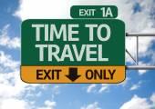 时间旅行道路标志 — 图库照片