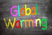 Глобальное потепление, написано на доске — Стоковое фото