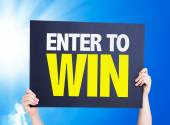 Enter to Win card — Stock Photo