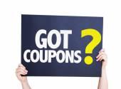 Got Coupons card — Stock Photo